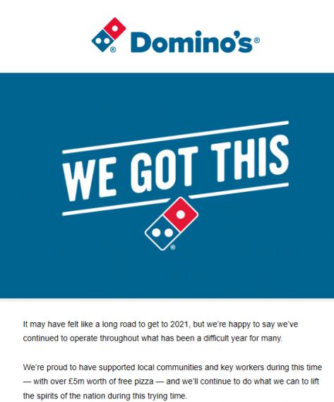 Domino's email marketing
